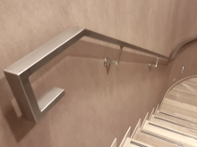 Beautiful contemporary stainless steel handrail design for internal stair case fabricated in Christchurch