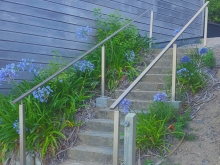 Outdoor stair handrail stainless steel fabricated in Christchurch by Metalcraft Engineering