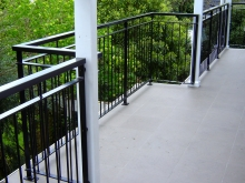 Wrought iron balustrade patio fence Christchurch Metalcraft Engineering