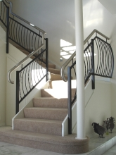 Beautiful metalwork handrail and balustrade for internal staircase