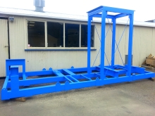 Metalcraft Engineering manufactured purpose made lifting and storage frame Christchurch