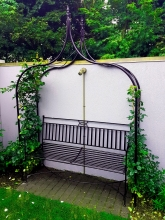 Bespoke rose arch traditional metal garden feature