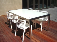 Metalcraft Engineering outdoor table and chair settings