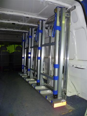 Internal Glass Van rack