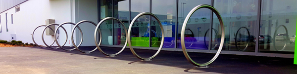 Metalcraft Engineering's Architecturally Designed Cycle Parking Hoops